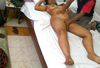 Big chested and curvy Fledgling Indian Dark haired Likes oily rubdown