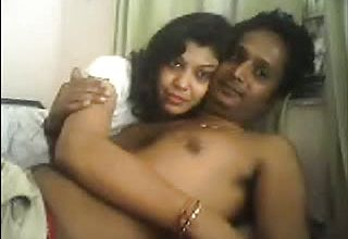 Horny inexperienced Indian mature duo spooning in Front of cam