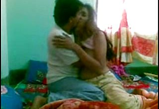 Insane and lascivious Indian youthfull female with her bf