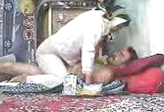 Insane Unexperienced Paki wife taunts Her Husband with Striptease and Lap dance