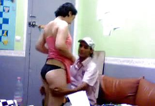 Lewd first timer Dark haired unwraps and Lets guy Plunge her Lovely booty