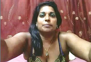Mature and curvy Dark flesh Indian Model On cam