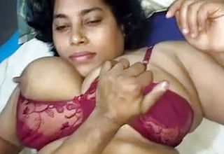 Fledgling dark Flesh Indian super bitch with Large boobies Plumbed on pov vid