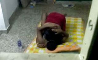 Spying on an Indian unexperienced duo having Hookup On the floor