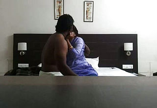 Sweet Chennai Office female with Her chief in the Motel Apartment
