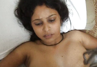 Dirty-minded Indian Dark Skinned housewife Gets bashed Missionary