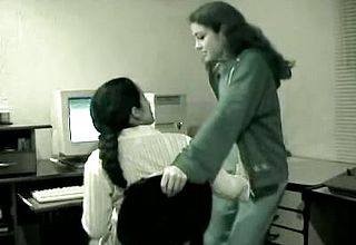 Indian lesbos Unwrapping each other In office