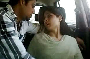 Super Super naughty Indian woman gives her paramour a adorable blow job In his Car