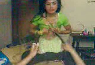 Warm super hot and youthful Indian Lady Throating bone on Point of view gauze