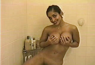 Young And insatiable Dark haired female takes a Bathroom