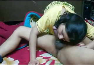 Buxomy Indian housewife Gets completely Devoured with blowing Heavy Manstick
