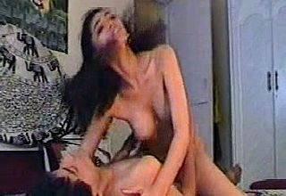 Big chested Indian nubile gf railing me on Top in My apartment