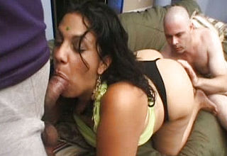 Chunky And Bodacious Indian Call girl in Three way