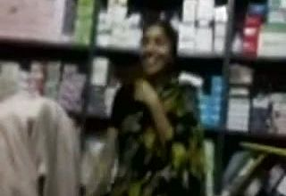 Indian Woman working in My store deepthroats My manmeat in the storage