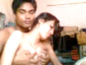 Naughty Dark Skinned Hindu bf Plays With Blowable Thick Boobs Of His girlfriend