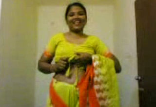 Obscene Fledgling Indian Housewife displays Her Gross congenital Tits