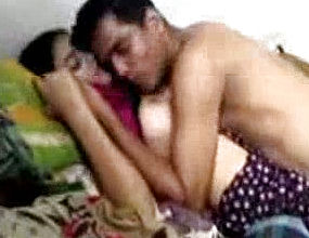Playful Bangladeshi Youthful Duo having joy In couch