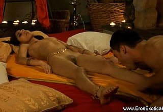 Exotic Indian Lovers Fooling Around